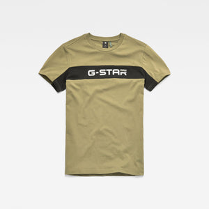Mens G-Star Inc Graphic 80 Tee Shirt In Sage Dark Black