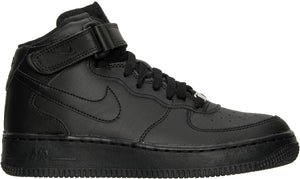 Big Kids Nike Air Force 1 Mid Gs Af1 Sneaker In Black - Simons Sportswear