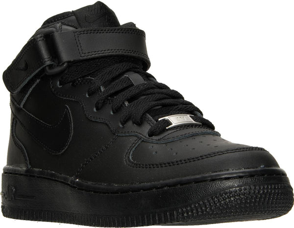 new product c9832 578e6 Big Kids Nike Air Force 1 Mid Gs Af1 Sneaker In Black