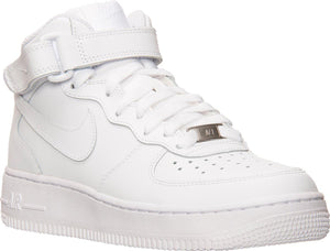 Big Kids Nike Air Force One Mid Af1 Gs Sneaker In White - Simons Sportswear
