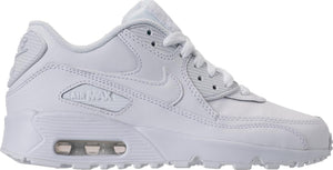 Big Kids Nike Air Max 90 Leather Gs Sneaker In White White - Simons Sportswear