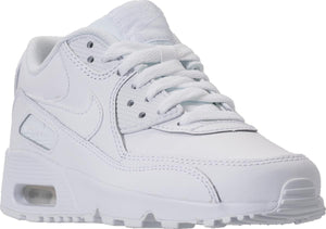 Big Kids Nike Air Max 90 Leather Gs Sneaker In White White