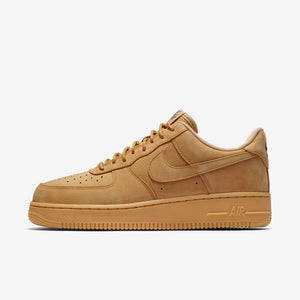 Mens Nike Air Force 1 Low Af1 Wb Suede Sneaker In Wheat Flax Gum - Simons Sportswear