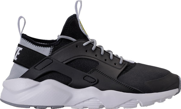 new concept d5034 922ac Mens Nike Air Huarache Run Ultra Running Shoe In Black White Grey