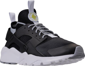 Mens Nike Air Huarache Run Ultra Running Shoe In Black White Grey