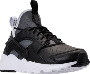 Mens Nike Air Huarache Run Ultra Se Running Shoe In Black Black White