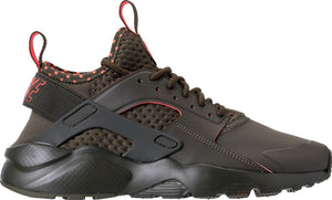 Mens Nike Air Huarache Run Ultra Se Sneaker In Cargo Khaki Total Crimson - Simons Sportswear