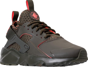 Mens Nike Air Huarache Run Ultra Se Sneaker In Cargo Khaki Total Crimson