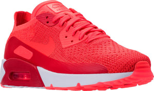 Mens Nike Air Max 90 Ultra 2 Flyknit Running Shoe In Bright Crimson - Simons Sportswear