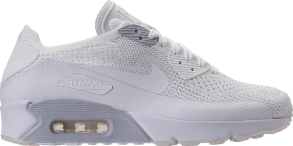 pretty nice 16438 546f6 Mens Nike Air Max 90 Ultra 2 Flyknit Running Shoe In White Pure Platinum