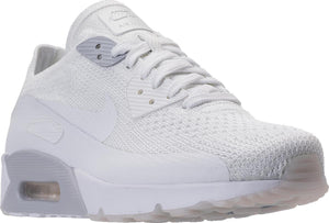 Mens Nike Air Max 90 Ultra 2 Flyknit Running Shoe In White Pure Platinum