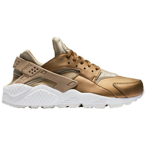Womens Nike Air Huarache Run Premium Txt Running Shoe In Khaki Metallic Gold