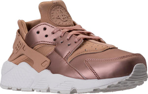 Womens Nike Air Huarache Run Premium Txt Running Shoe In Metallic Bonze Dark Beige - Simons Sportswear