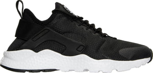 Womens Nike Air Huarache Run Ultra Running Shoe In Black White