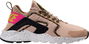 Womens Nike Air Huarache Run Ultra Si Running Shoe In Mushroom Summit White Pink - Simons Sportswear