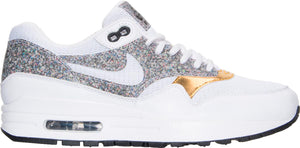 Womens Nike Air Max 1 Se Sneaker In White Multi Gold Grey - Simons Sportswear
