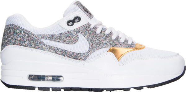 Womens Nike Air Max 1 Se Sneaker In White Multi Gold Grey