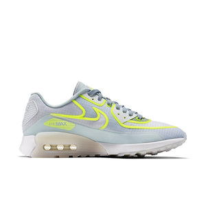 Womens Nike Air Max 90 Ultra 2 Si Running Shoe In White-Glacier Blue-Pure Platinum - Simons Sportswear