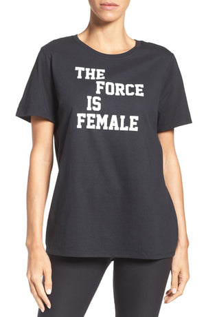 Womens Nike Force Is Female Tee Qs Shirt In Black