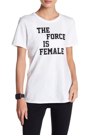 Womens Nike Force Is Female Tee Qs Shirt In White - Simons Sportswear