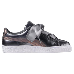 Big Kids Puma Basket Heart Lunar Lux Sneaker In Smoked Pearl