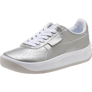 Big Kids Puma California Jr Metallic Sneaker In Silver - Simons Sportswear