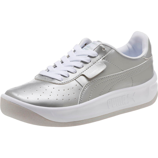 d061c920017b37 Big Kids Puma California Jr Metallic Sneaker In Silver - Simons ...