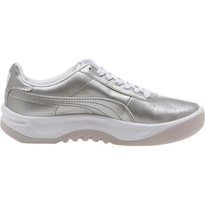 Big Kids Puma California Jr Metallic Sneaker In Silver