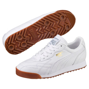 Big Kids Puma Roma Anniversario Jr Sneaker In White Gum