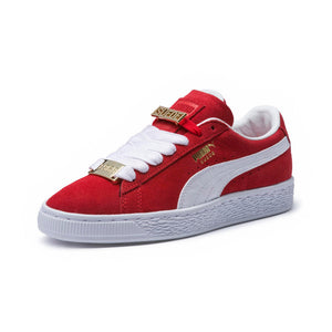 Big Kids Puma Suede Classic B-Boy Fabulous Jr Sneaker In Red - Simons Sportswear