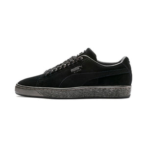 Big Kids Puma Suede Classic X Chain Jr Sneaker In Black