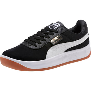 Mens Puma California Special Casual Sneaker In Black White Team Gold