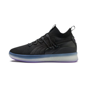 Mens Puma Clyde Court Disrupt Sneaker In Black Electric Purple