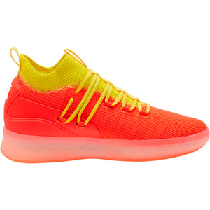 Mens Puma Clyde Court Disrupt Sneaker In Red Blast