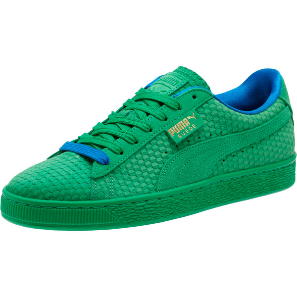 the latest 0965f 78259 Mens Puma Suede Classic Archive All Over Sneaker In Kelly Green Team Gold