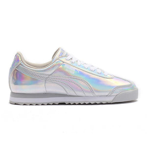 Preschool Kids Puma Roma Iridescent Jr Metallic Sneaker In Metallic Silver - Simons Sportswear