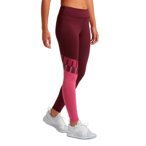 Womens Puma All Me 7-8 Tights Leggings In Fig Magenta Haze - Simons Sportswear