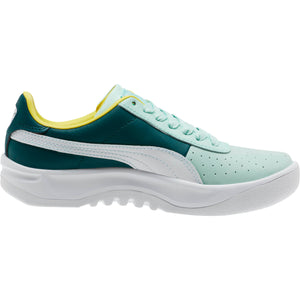 Womens Puma California Logo Sneaker In Fair Aqua Puma White