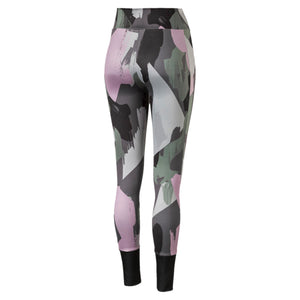 Womens Puma Chase All Over Print Tights Leggings In Iron Gate - Simons Sportswear