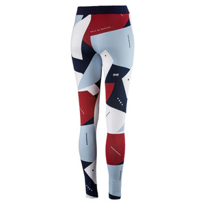 Womens Puma Classics All Over Print Tights Leggings In White Camo Micro - Simons Sportswear