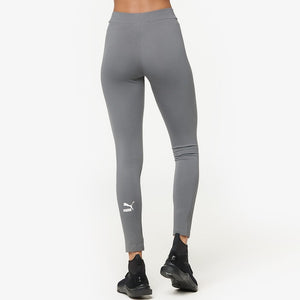 Womens Puma Classics T7 Tights Leggings In Grey Pink