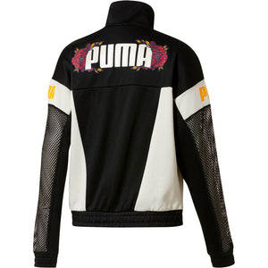 Womens Puma Flourish Xtg Jacket In Black White