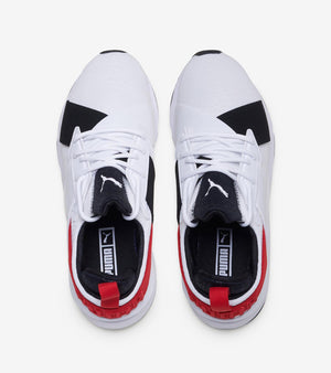 Womens Puma Muse Croc Running Shoe In White Black Hibiscus - Simons Sportswear