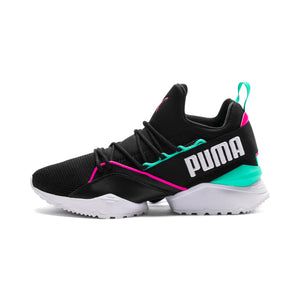 Womens Puma Muse Maia Street 1 Evolution Sneaker In Puma Black Knockout Pink