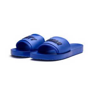 Womens Puma Rihanna Fenty Surf Slide Flip Flop Sandals In Dazzling Blue Evening Blue - Simons Sportswear