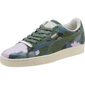 Womens Puma Suede Classic Camo Sneaker In Laurel Wreath White Orchid