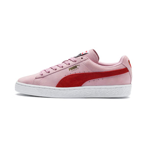 Womens Puma Suede Classic Sneaker In Pale Pink Hibiscus - Simons Sportswear