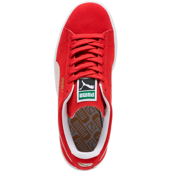 1a81db067931 Womens Puma Suede Classic Plus Sneaker In High Risk Red White - Simons  Sportswear