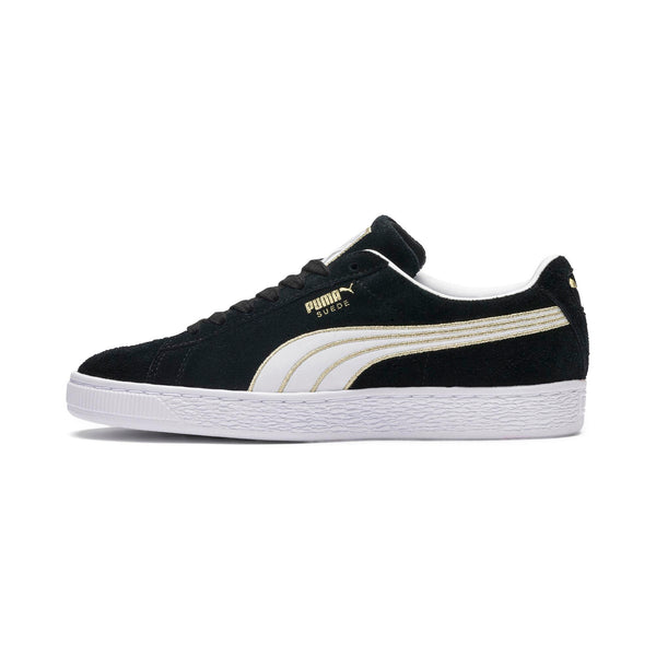 Womens Puma Suede Varsity Sneaker In Black White - Simons Sportswear 9eac44bc9