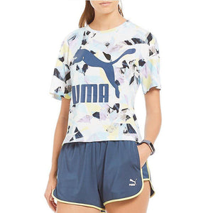 Womens Puma Summer Fusion Reload Short Shorts In Navy Blue - Simons Sportswear